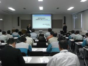 講習会の様子 「建築電気設備の耐震設計・施工マニュアルの解説」(